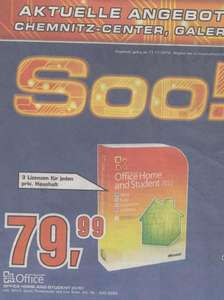 [Saturn - Chemnitz/Zwickau] Microsoft Office Home and Student 2010 - 3 User - 79,99€