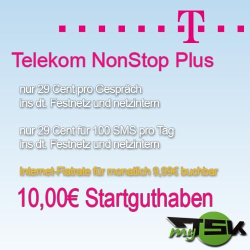 T-Mobile Telekom Xtra NonStop Karte inkl. 10€ Startguthaben VORSICHT NICHT BESTELLEN