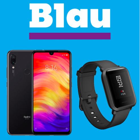 Blau Allnet L (3GB LTE, o2-Netz) mtl. 14,99€ mit Xiaomi Redmi Note 7 (64GB, Dual-SIM) + Xiaomi Huami Amazfit Bip für 4,95€ Zuzahlung *UPDATE*