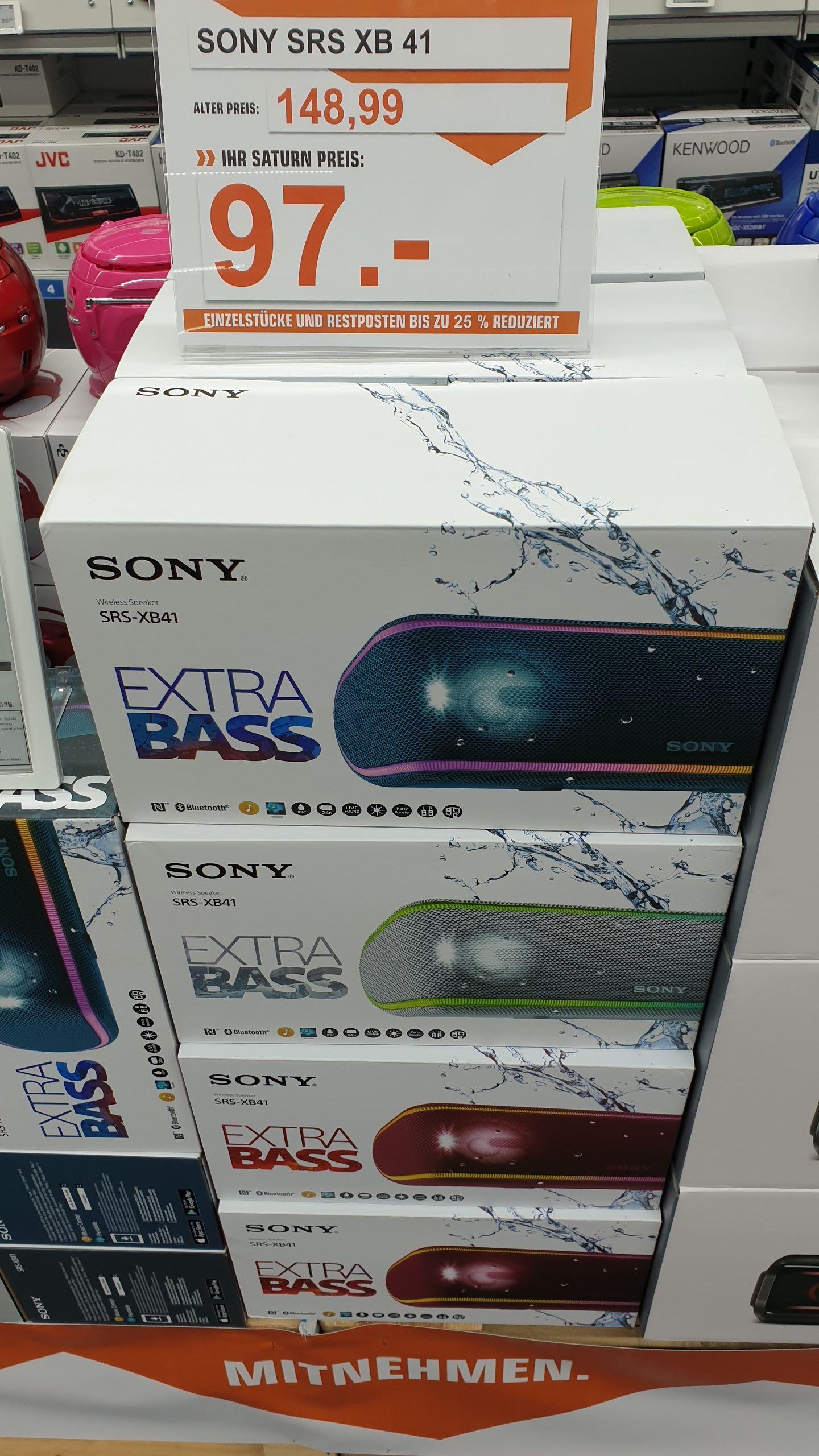 Sony srs-XB41 für 97 € und Jbl Charge 3 für 99 € @ Saturn Pforzheim