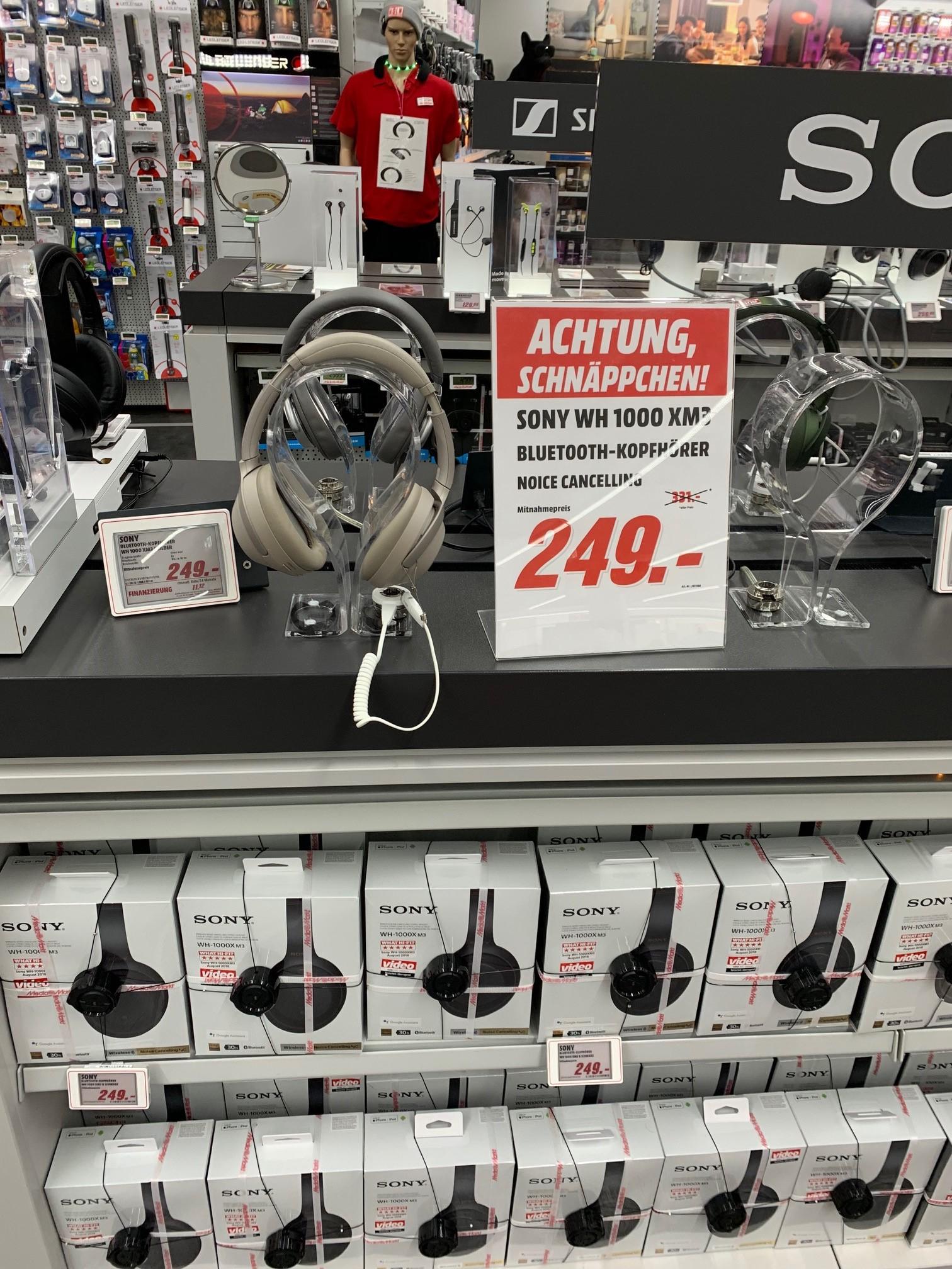 [Lokal Media Markt Köln City am Dom ] Sony WH 1000 XM 3 für 249€