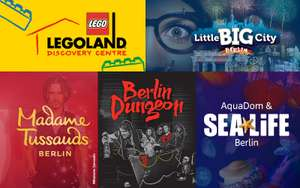 [Berlin] Kombi-Ticket für 4 Attraktionen: Madame Tussauds, AquaDom & SEA LIFE, Dungeon, Legoland DC inkl. Express-Einlass