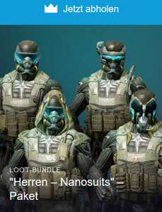 "Warface: ""Herren – Nanosuits"" – Paket (PC & PS4 & Xbox One) kostenlos (Twitch & Amazon Prime)"