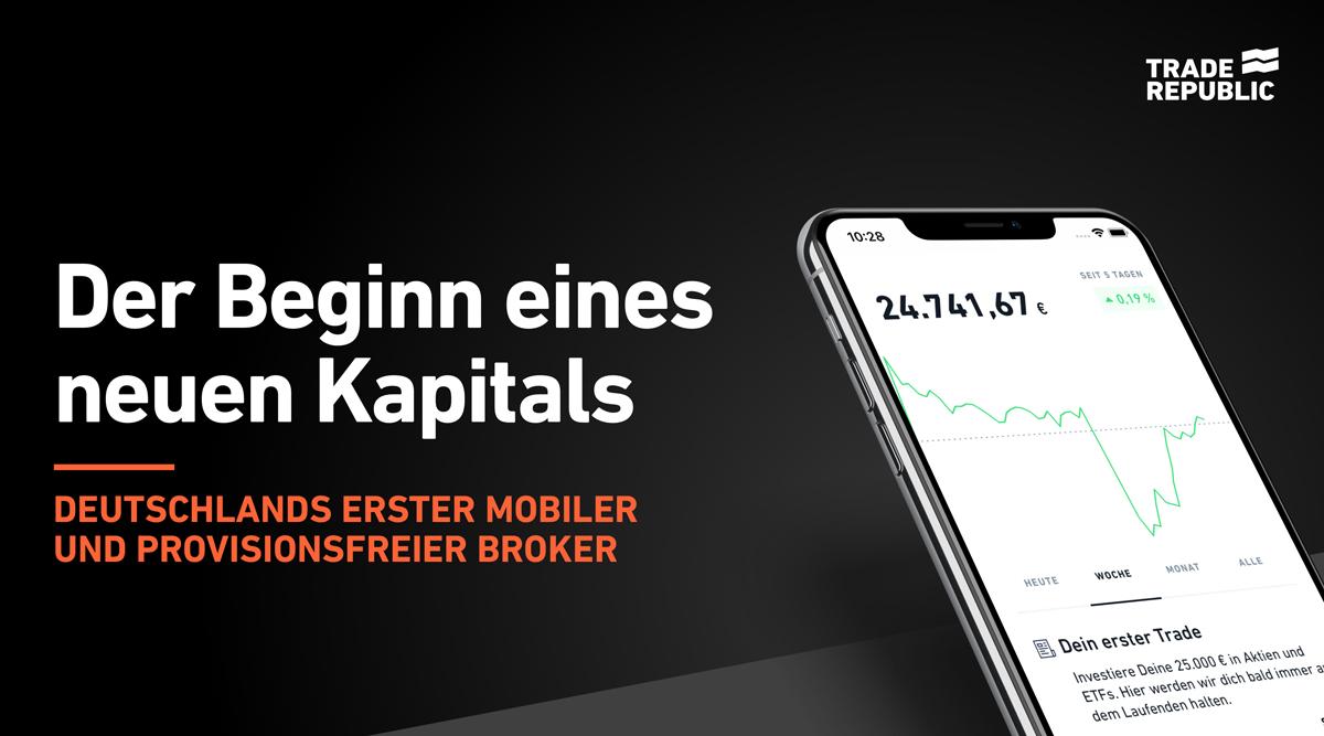 Trade Republic: Traden ohne Orderprovision / Abwicklung über Lang & Schwarz / 1 Euro Fremdkosten pro Trade