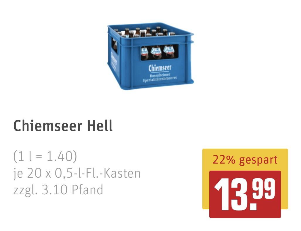 [Rewe Center] Chiemseer Hell (20 x 0,5l) (Lokal - Heidelberg/Rohrbach)