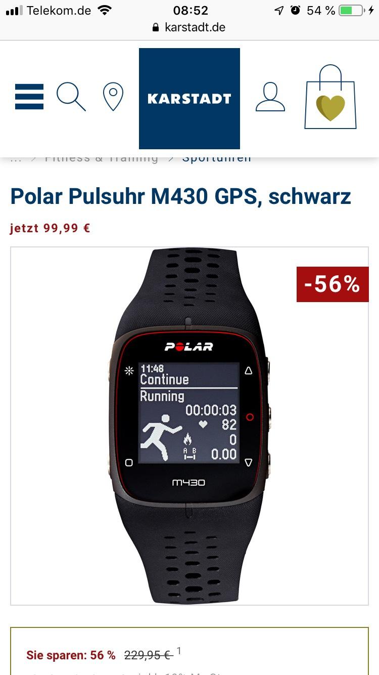 Polar Pulsuhr M 430 GPS