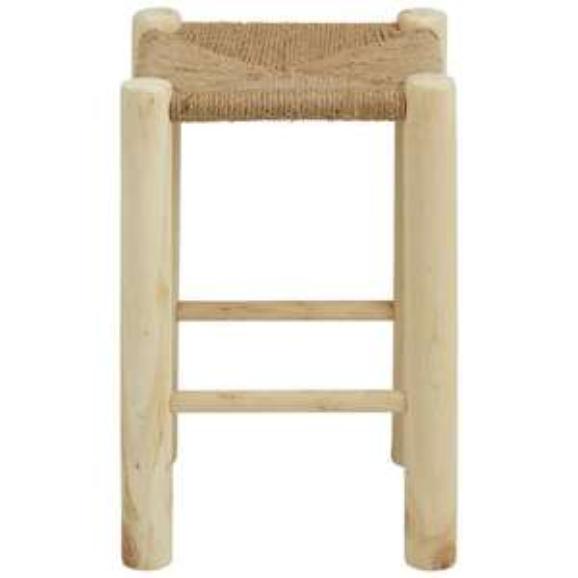 3 Hocker aus Echtholz und mit Sitzfläche aus Sisalseil inkl. Versand bei [mömax]