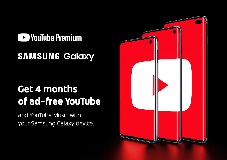 Youtube Premium 4 Monate / 2 Monate Kostenlos (Samsung Galaxy S10/S10+/S10e)