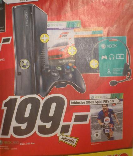 [LOKAL - KEMPTEN] Xbox 360 m. 250 GB + FIFA 13 +  Skyrim (Download) + Forza 4 (Essentials) + 1 Monat Xbox Live Gold