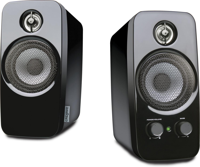 Creative Inspire T10 2.0 PC-Lautsprecher (10W, 3,5mm Klinke, 80-20.000 Hz)