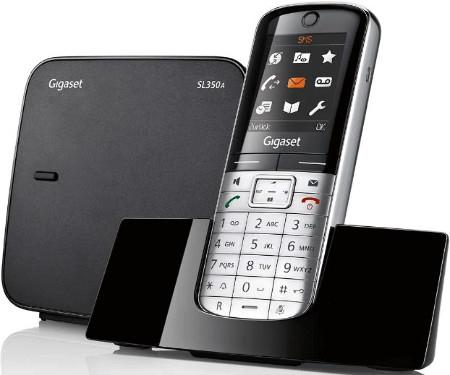 GIGASET SL350 A metall/pianoschwarz Schnurloses Telefon