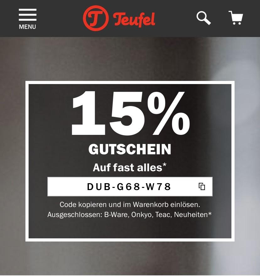 Teufel 15% Gutschein Auf fast alles