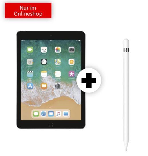 Apple iPad 2018 (32GB, LTE) inkl. Pencil für mtl.19,99€ und 79€ einmalig mit Mobilcom Internet (10GB LTE Telekom)
