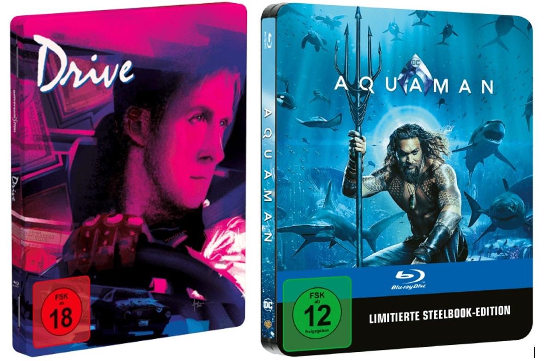 [Saturn Card] Drive (Limited Edition FuturePak) für 15,29€ // Aquaman (Blu-ray Steelbook) für 21,24€ // Vorbesteller und versandkostenfrei!