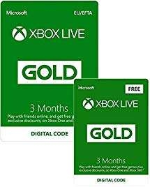 3 Monate Xbox Live Gold + 3 Monate gratis für 17,54€ (Amazon & Game UK)