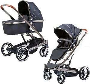Knorr Zoomix Kombikinderwagen / Aluminiumgestell / inkl. Babywanne und Sportsitz