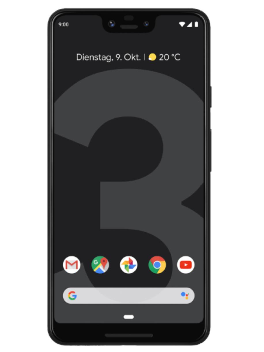 Google Pixel 3XL Smartphone in schwarz oder weiß 64GB