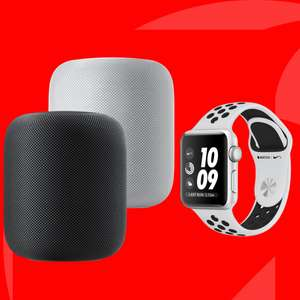 Vodafone DataGo M (5GB LTE) mtl. 17,49€ + Apple HomePod (PVG 309€) 4,95€ Zuzahlung od. Apple Watch 3 Nike+ 42mm (PVG 307€) 29,95€ Zuzahlung