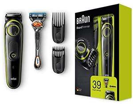 Braun BT3041 Barttrimmer und Haarschneider, 39 Längeneinstellungen, schwarz/grün (Amazon Blitzangebot)