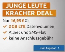 (Junge Leute) Huawei P20 lite mit md Telekom Magenta XS Young   2 GB LTE + Allnet- und SMS-Flat   9,99€ Zuzahlung + VSK   mtl. 16,95€