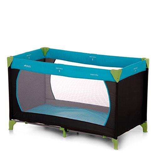 Hauck Kinderreisebett Dream N Play / inklusive Matratze und Tasche / 120 x 60cm / ab Geburt / tragbar und faltbar, Waterblue (Blau)