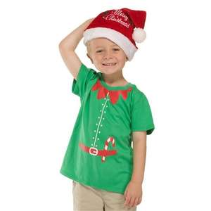 (UK) Weihnachtself T-Shirt für Kinder 5,99€ @ play
