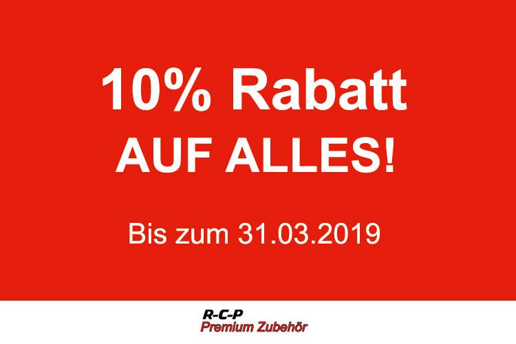 10% Rabatt auf das komplette Sortiment bei R-C-P Premium Zubehör