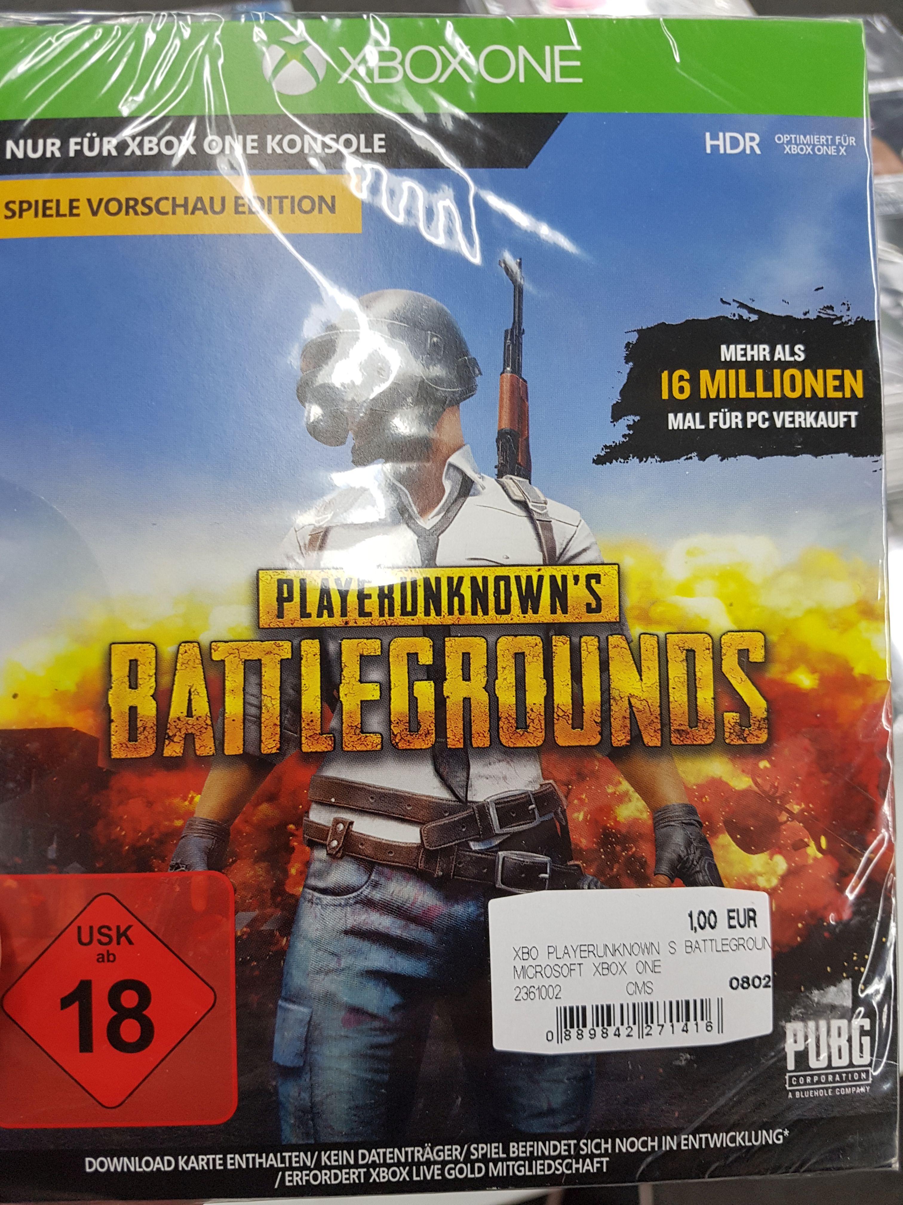 """[Regional Mediamarkt Porta Westfalica] Playerunknown's Battleground Game Preview Edition """"PUBG"""" Xbox One für 1,-€"""