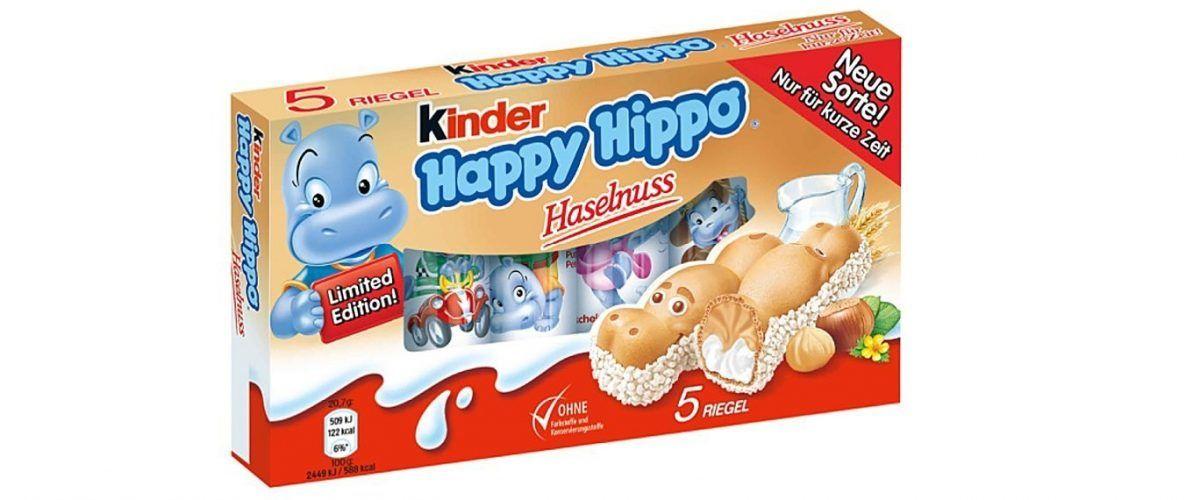 Kinder Happy Hippo Haselnuss für 1,39€/ mit 10% auf alles 1,25€ ab 18.03 bei Rossmann