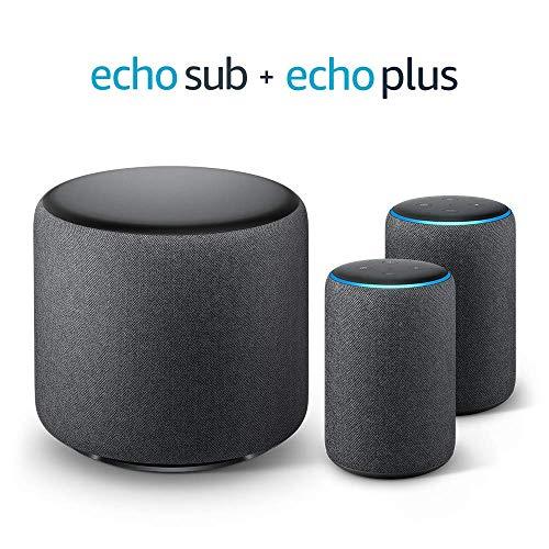 Echo Plus Stereo-System - 2 Echo Plus-Geräte (2. Gen.) + 1 Echo Sub