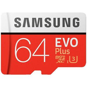 Samsung EVO Plus Micro SDXC 64GB bis zu 100MB/s Class 10 U3 Speicherkarte für 10,-€