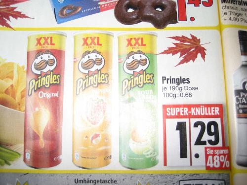 EDEKA Pringles XXL Dose 190g  von 19-24.11 Bundesweit !