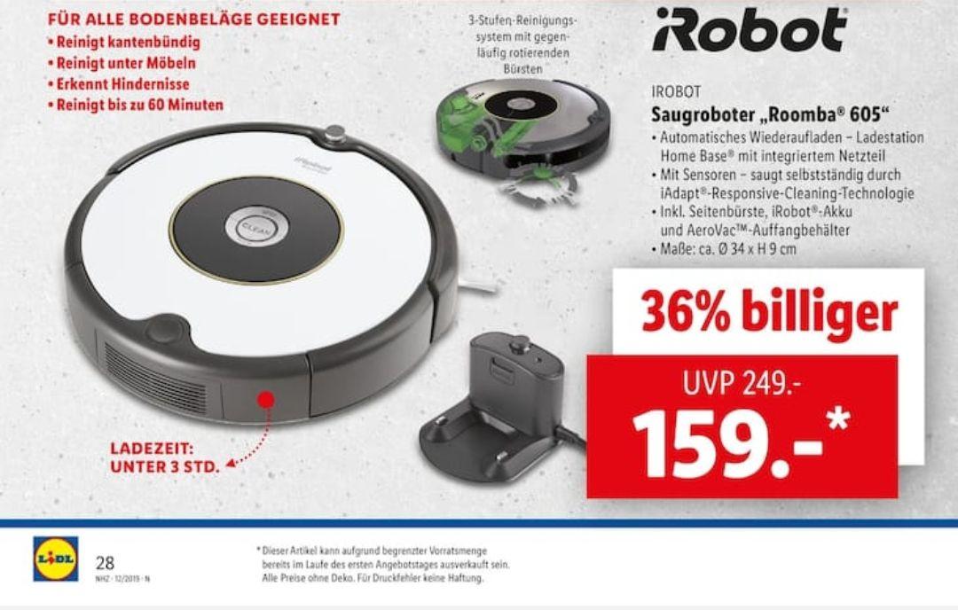 [LIDL] iRobot Roomba 605 Saugroboter ab 21.03.