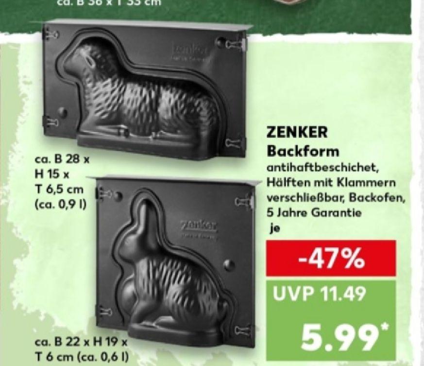 """Zenker Backform """"Lamm"""" und """"Hase"""" für 5,99€ [Kaufland ab 21.03]"""
