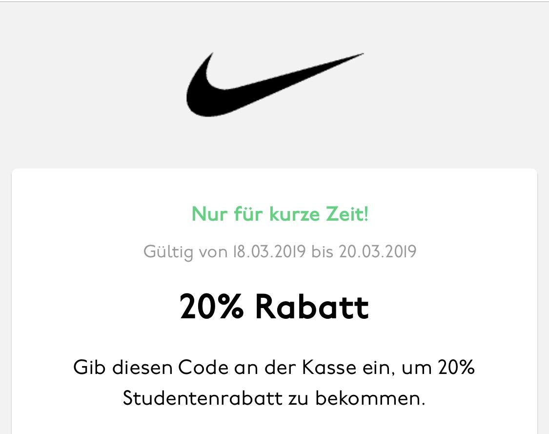 [Studenten] Nike 20% Rabatt über UniDays App