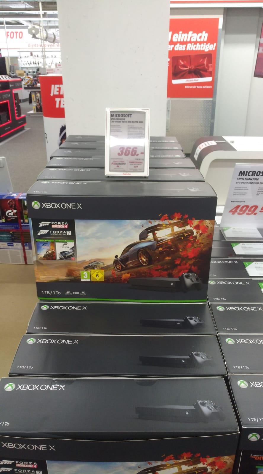 [Lokal] Media Markt Vaihingen XBOX ONE X + Forza Horizon 4 & Forza Motorsport 7 366€