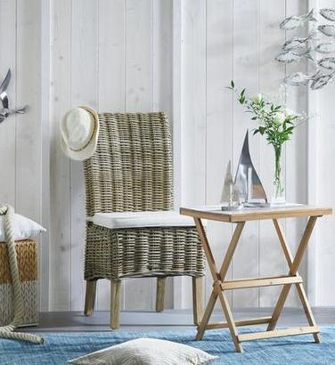 Stuhl aus Mangoholz und Rattan reduziert bei Mömax