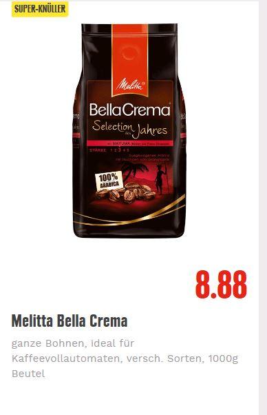 [ EDEKA ] 2 Packungen Melitta Bella Crema Espresso 2kg Bohnen für 5,76€ (2,88€/Packung - Angebot+Coupon+Edeka App) Rabattfehler