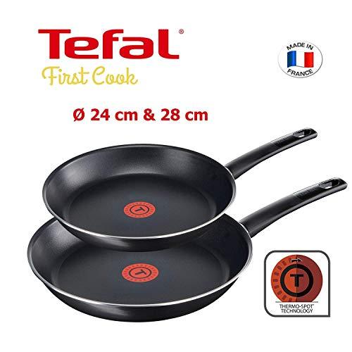 [Amazon] Tefal First Cook Bratpfannen Set: 2 Pfannen aus Aluminium mit Thermospot