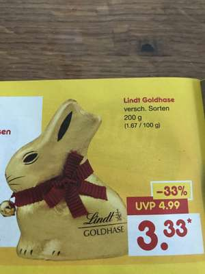 [Netto MD] Lindt Goldhase 200g UVP 4,99€