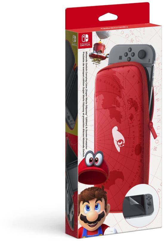 Nintendo Switch-Tasche inkl. Schutzfolie Super Mario Odyssey Edition limited
