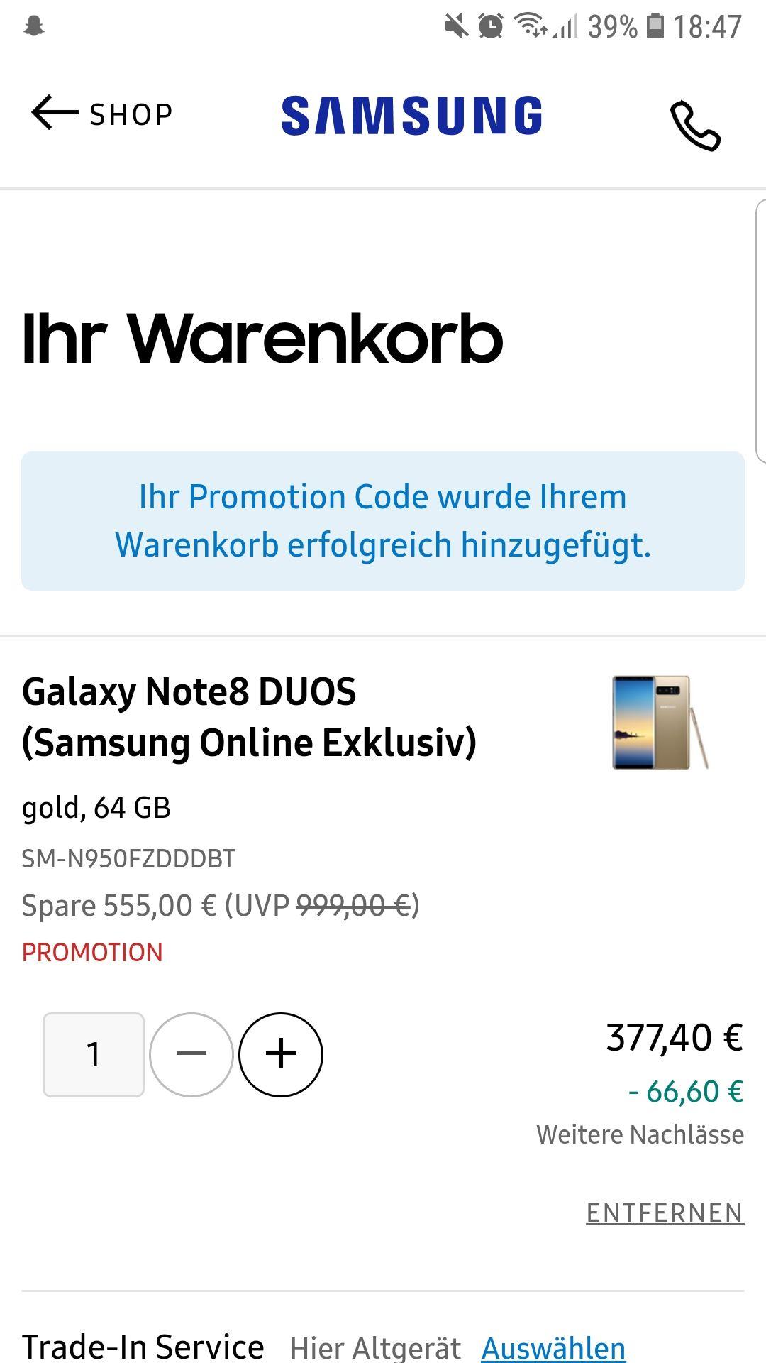 Samsung Galaxy Note 8 Duos 64gb Schwarz/Gold