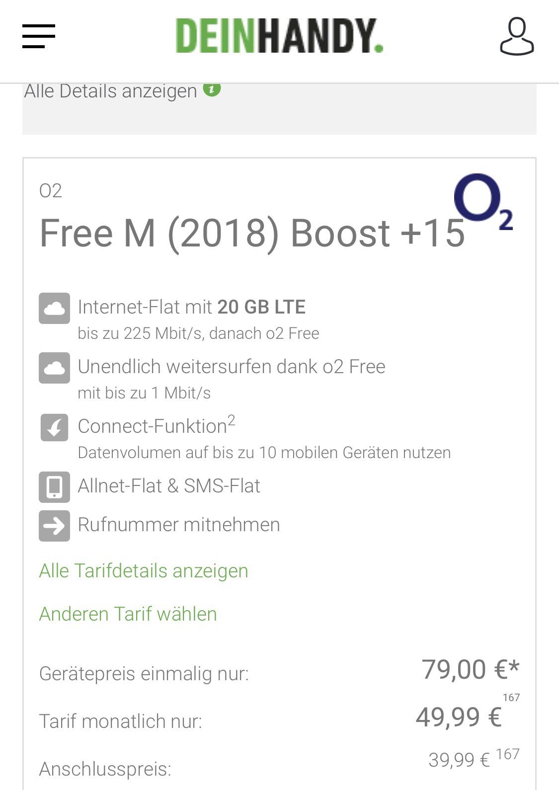 iPhone XS 64GB mit O2 Free M Boost + 15