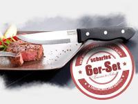 Steakmesser-Set 6-tlg. aus Spezial-Edelstahl, orig. Rosenstein & Söhne