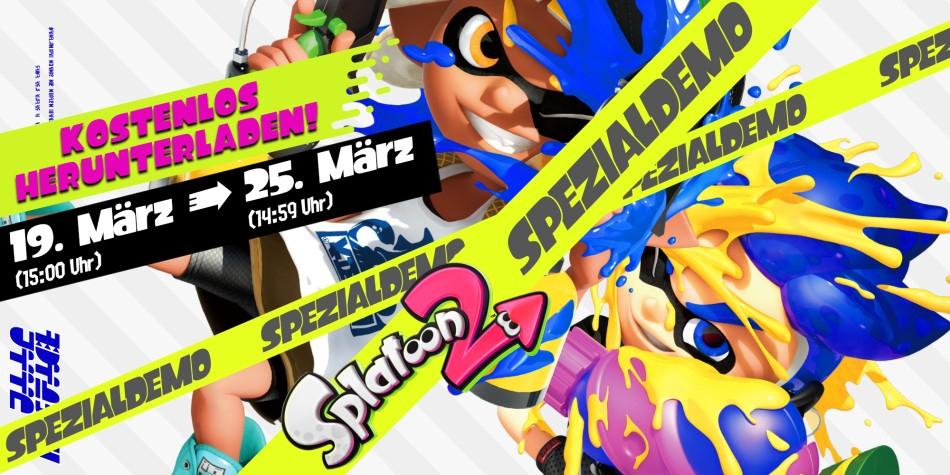 Splatoon 2 kostenlose Spezialdemo + Nintendo Switch Online sieben Tage kostenlos