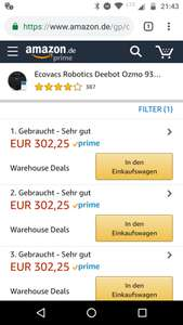 Amazon WHD Ecovacs Deebot Ozmo 930 Zustand sehr gut