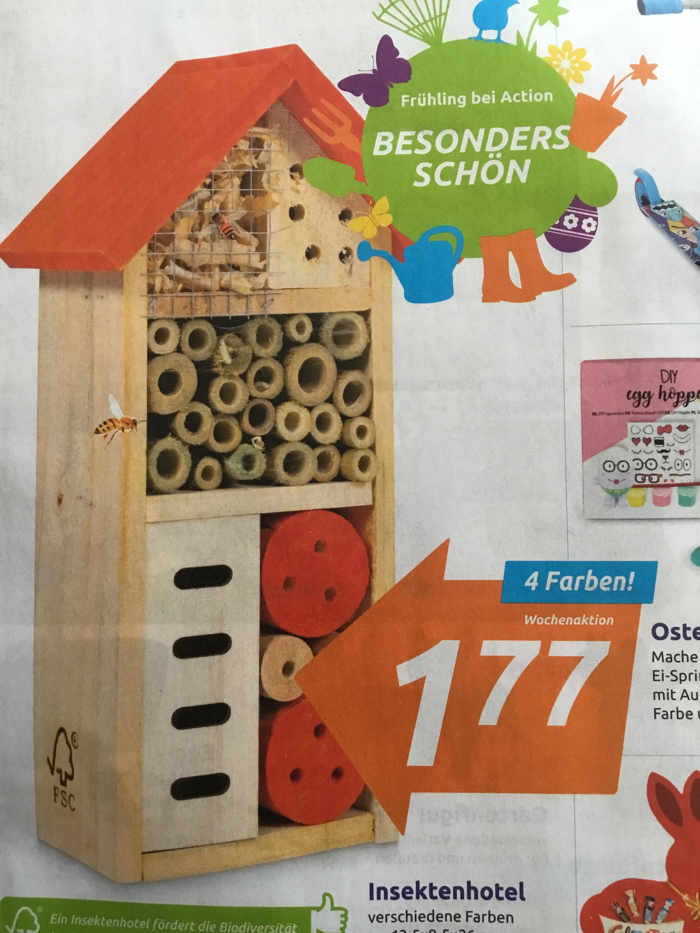 [ACTION] Insektenhotel in verschiedenen Farben als Wochenangebot