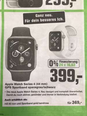 Apple Watch Series 4 ,  40 (364 €) & 44 (394 € )mm , Alphatecc + Onlineshop + 3 Jahre Garantie