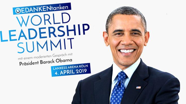 25% Rabatt aufs World Leadership Summit (mit Obama)