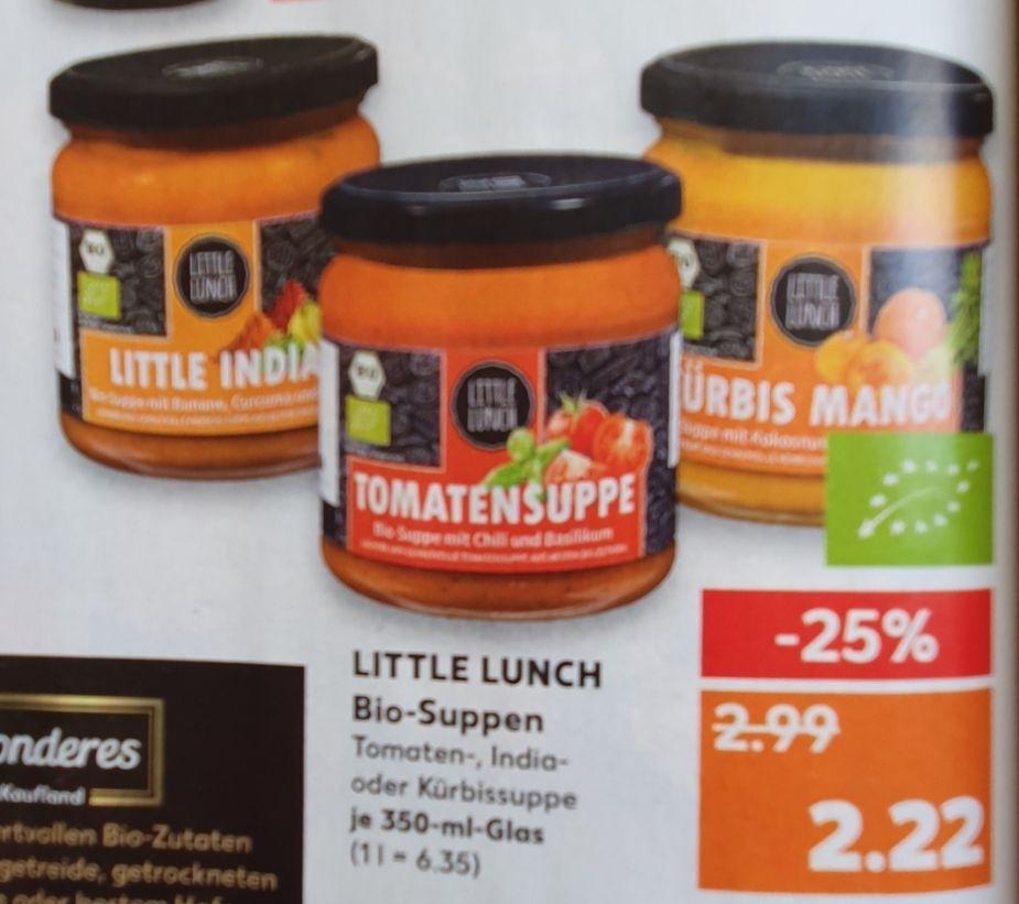 Little Lunch Bio Suppen für 2,22€ ab 21.03 - ideal zum probieren [Kaufland]